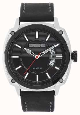 DeLorean Motor Company Watches Correa de cuero negro para hombre alpha dmc negro dial DMC-1