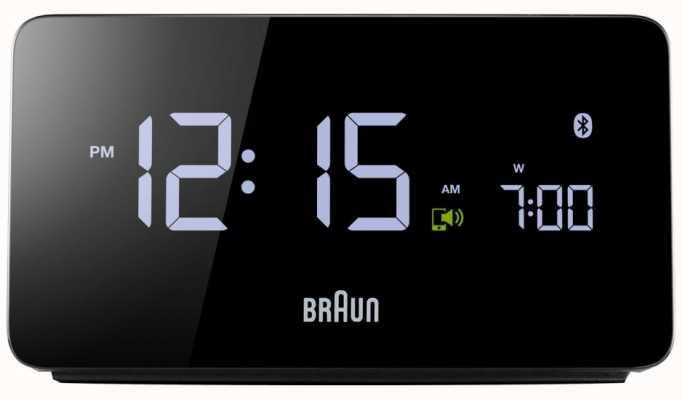Braun Reloj de alarma digital bluetooth BNC020BK