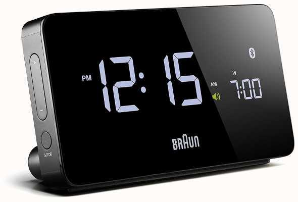 Braun Reloj despertador digital bluetooth negro BNC020BK