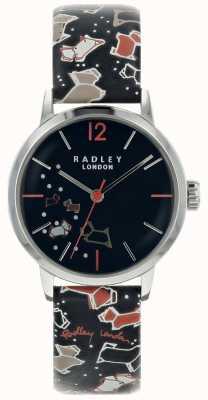 Radley Correa de cuero del modelo de la tinta del dial de la tinta de la caja de las señoras RY2623