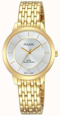 Pulsar Pulsera para mujer de acero inoxidable chapado en oro de 50m de resistencia PH8370X1