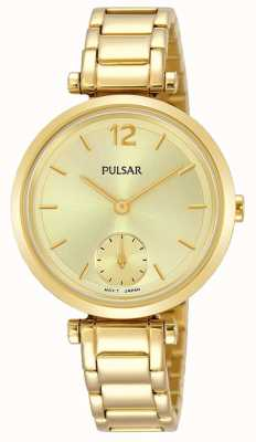 Pulsar Dial de oro con pulsera dorado para mujer PN4068X1