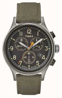 Timex Correa Allied Chrono Green Nylon / esfera negra TW2R47200