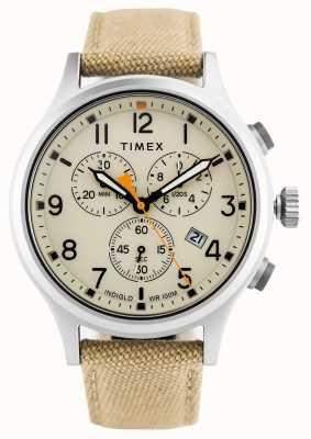 Timex Correa de nylon Allian Chrono Caqui / esfera natural TW2R47300