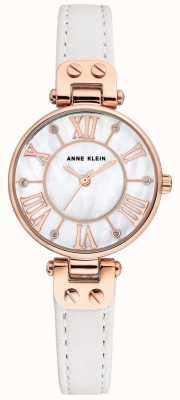 Anne Klein Reloj jane para mujer correa de cuero rosa AK/N2718RGWT