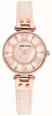 Anne Klein Reloj jane para mujer correa de cuero rosa AK/N2718RGPK