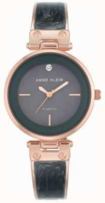 Anne Klein Mujeres amanda caja de oro rosa esfera gris AK/N2512GYRG
