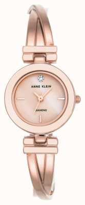 Anne Klein Mujer leah rosa dorado tono pulsera esfera blanca AK/N2622WTRG
