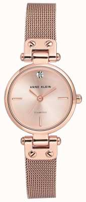 Anne Klein Pulsera y dial de malla isabel rosa dorada para mujer AK/N3002RGRG