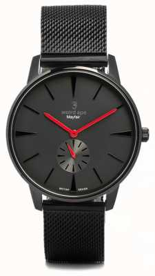 Weird Ape Mayfair negro y rojo con malla negra WA02-005615