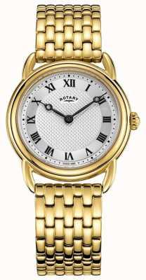 Rotary Brazalete de oro canterbury para mujer reloj de plata LB05338/21
