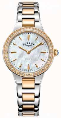 Rotary Reloj kensington de oro rosa de dos tonos para mujer LB05277/41