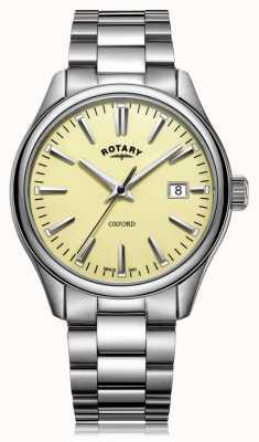 Rotary Brazalete oxford de acero inoxidable para hombre GB05092/32