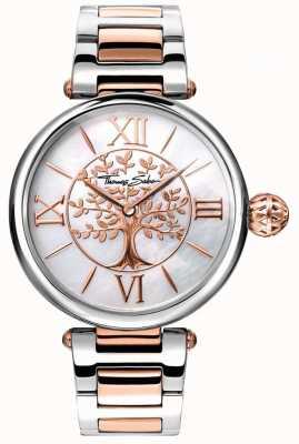 Thomas Sabo El glamour de las mujeres y el karma del alma miran oro rosa y plata WA0315-272-213-38