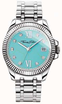 Thomas Sabo Reloj para mujer glamour y soul divine turquoise dial WA0317-201-215-33