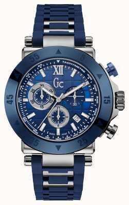 Gc Correa de silicona gc-1 Sport cronógrafo azul para hombre X90025G7S