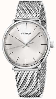 Calvin Klein Reloj de malla de acero inoxidable para hombre de mediodía K8M21126