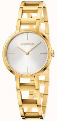 Calvin Klein Señoras aclamaciones reloj de oro amarillo K8N23546