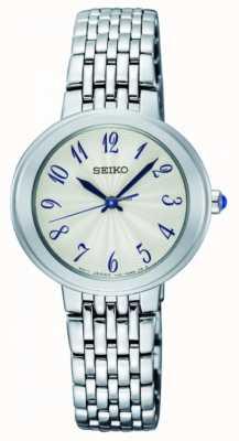 Seiko Señoras pulsera de cuarzo plata cara blanca SRZ505P1