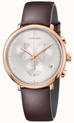 Calvin Klein Cronografo para hombre con fecha de oro mediodía K8M276G6