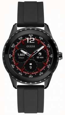 Guess Connect unisex 44mm android desgaste reloj de goma negro C1002M1