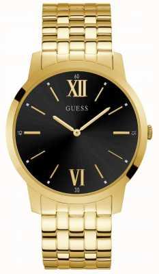 Guess Estate mens vestido analógico oro redondo W1073G2