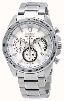 Seiko Reloj cronógrafo de acero inoxidable para hombre SSB297P1