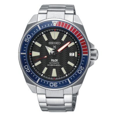 Seiko Reloj automático de acero inoxidable padi prospex para hombre, esfera negra SRPB99K1