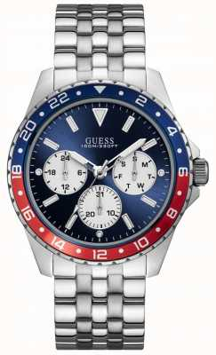 Guess Odyssey mens sport multi silver round W1107G2