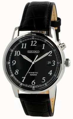 Seiko Reloj nalog cinético para hombre correa negra y esfera negra SKA781P1