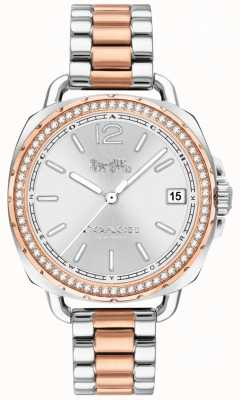 Coach Mujeres tatum dos tonos de oro rosa y plata de acero inoxidable 14502950