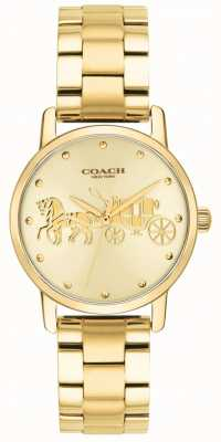 Coach Reloj de pulsera y caja dorada para mujer 14502976