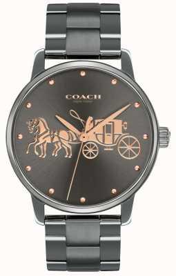Coach Estuche y brazalete con inscripción en oro y rosa de las mujeres, negro magnífico 14502924