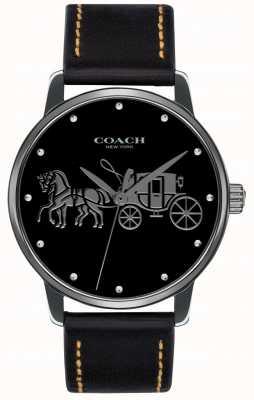 Coach Estuche negro para mujer y correa de cuero negro 14502974
