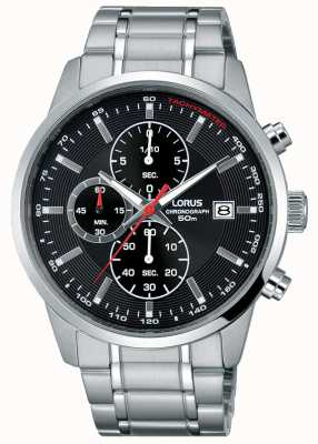 Lorus Reloj de cuarzo para hombre con esfera negra RM325DX9