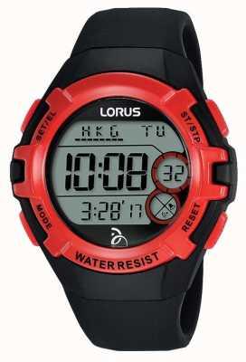 Lorus kids djokovic foundation reloj digital correa negra R2389LX9