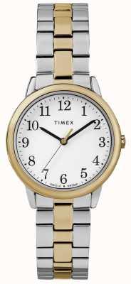 Timex Reloj fácil de mujer de 30 mm de acero inoxidable TW2R58800