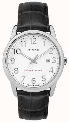 Timex Firma fácil de leer con reloj de cuero con fecha de 38 mm TW2R64900