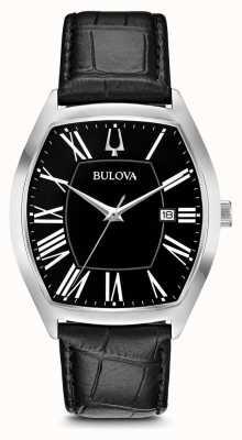 Bulova Cuero embajador clásico para hombre 96B290