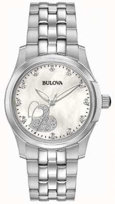 Bulova Corazón clásico de acero inoxidable para mujer 96P182