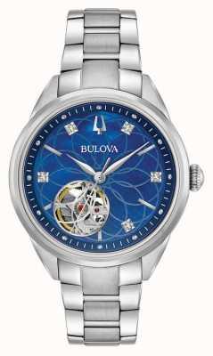 Bulova Diamante de acero inoxidable para mujer automático 96P191