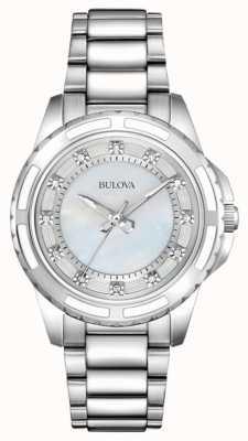Bulova Diseño de mujer diamante madre de perla 96S144