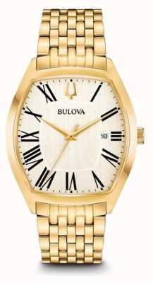 Bulova Embajador para hombre chapado en oro de acero inoxidable 97B174