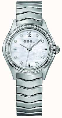 EBEL Wave 66 diamond set cuarzo 30mm reloj de pulsera de nácar 1216194