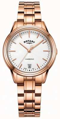 Rotary Pulsera cambridge para mujer reloj oro rosa LB05262/06