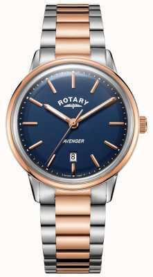 Rotary Reloj avenger para hombre | pulsera de acero inoxidable | esfera azul | GB05342/05