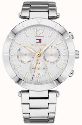Tommy Hilfiger Pulsera para mujer Chloe reloj día fecha tono plateado 1781877