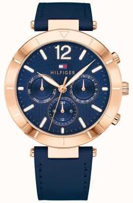 Tommy Hilfiger Reloj mujer chloe day date azul silicona trampa 1781881