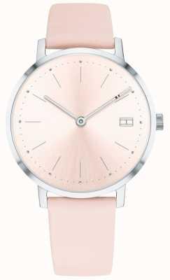 Tommy Hilfiger Reloj pippa para mujer correa de piel rosa pálida 1781925