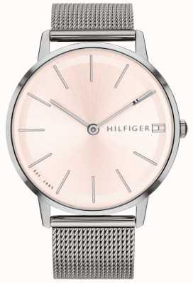 Tommy Hilfiger Correa de malla de plata del reloj pippa para mujer 1781935